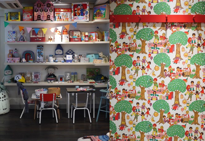 Childrens toys at retro wallpaper at Couverture and the Garbstore