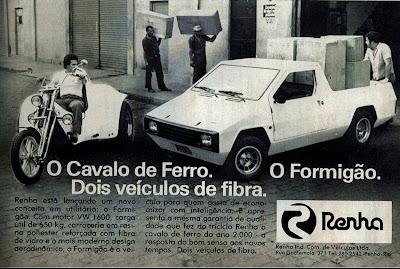 propaganda Cavalo de Ferro e Formigão - 1978. brazilian advertising cars in the 70s; os anos 70; história da década de 70; Brazil in the 70s; propaganda carros anos 70; Oswaldo Hernandez;