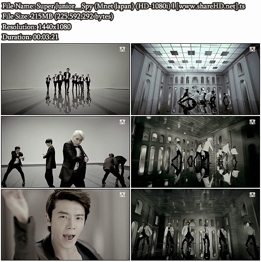 Download MV Super Junior - Spy (Mnet Japan Full HD 1080i)