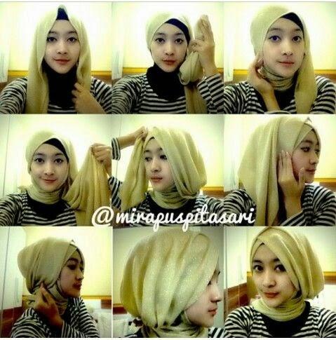 Cara Memakai Jilbab Kreasi Turban