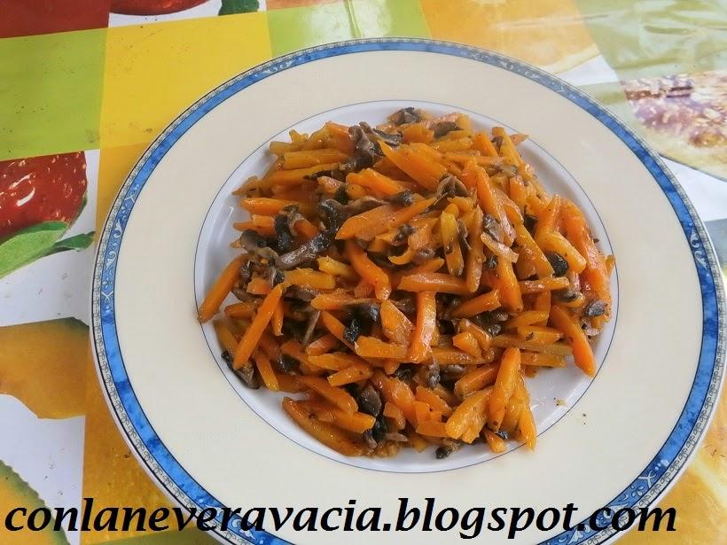 Salteado De Zanahorias Y Champiñones
