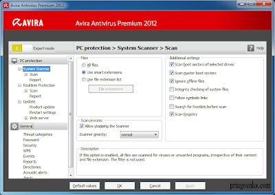enter license key activation (HBEDV.KEY) Avira AntiVir Premium 2012