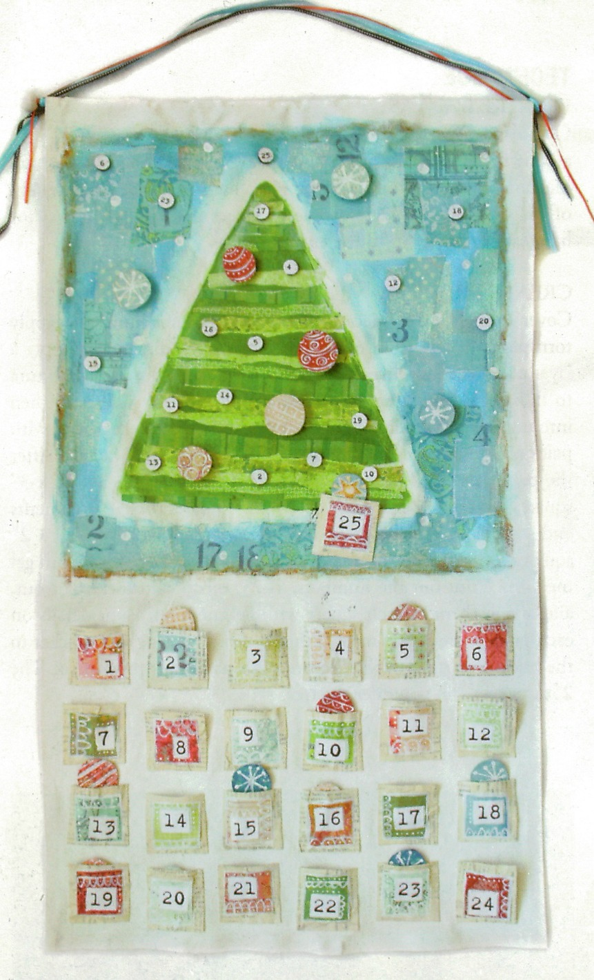 Handmade Calendar Tutorial : Art by erin leigh handmade christmas mixed media