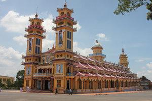 Cao Đài temple in Tây Ninh town