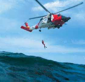 What's it like to be rescued by a USCG helicopter team?