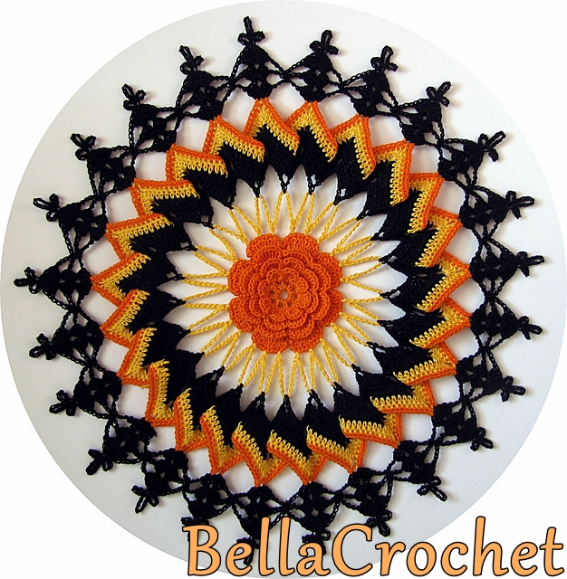 Bellacrochet Trick Or Treat Doily A Free Crochet Pattern For You