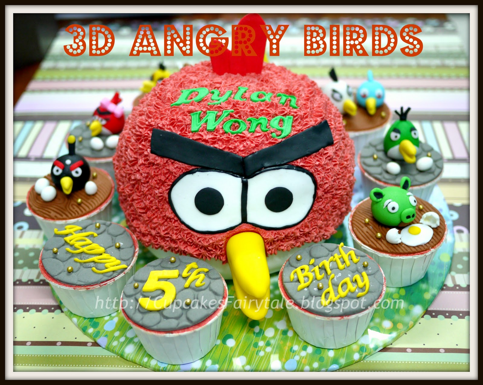 Cupcakes Fairytale DYLAN WONGS 5TH BIRTHDAY CAKE ANGRY BIRDS THEME