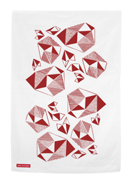 Pattern Play Screen Print Tea Towel in Fushia