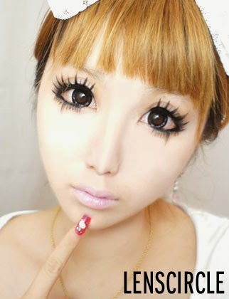 wide eye contact lens, Lenscircle, Asia big eye contacts