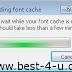 "VLC Media Player හි ""building font cache"" වසා තැබීම ...."