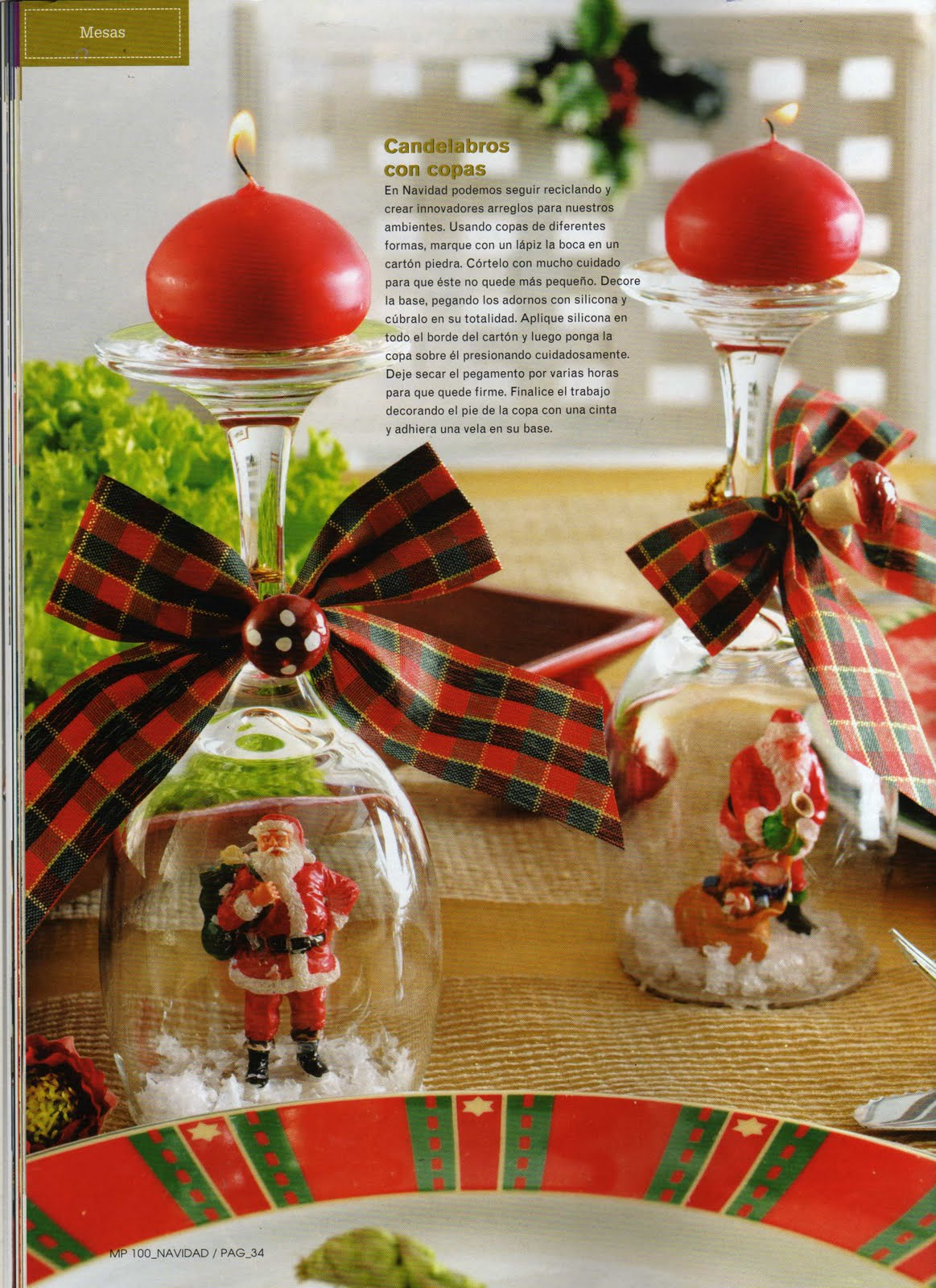Decoraciones para navidad wreath o coronas para adornar puertas y mas copas con velas - Decoraciones para navidad ...