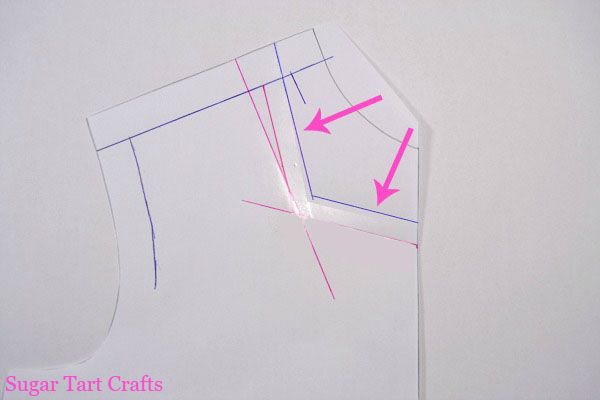 Add seam allowance to the new neckline