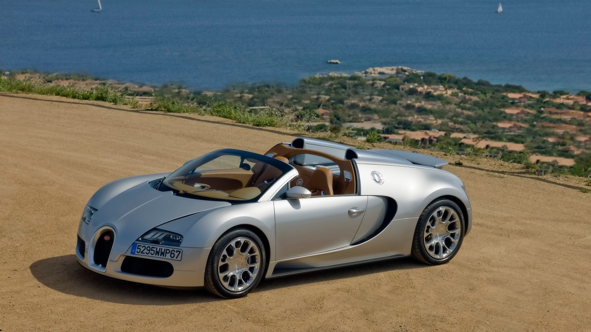 bugatti veyron 164 grand sport 2010 in sardinia front and side panorama high definition. Black Bedroom Furniture Sets. Home Design Ideas