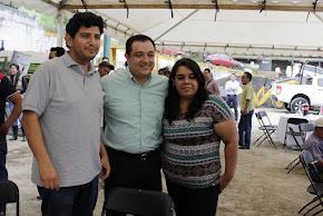 Convive Américo Zúñiga con trabajadores de la Dirección de Obras Públicas