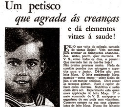 Propaganda do Leite Moça direcionada para as crianças.