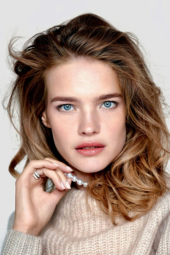 Natalia Vodianova wears casual styles for Vogue Russia's February 2015 edition