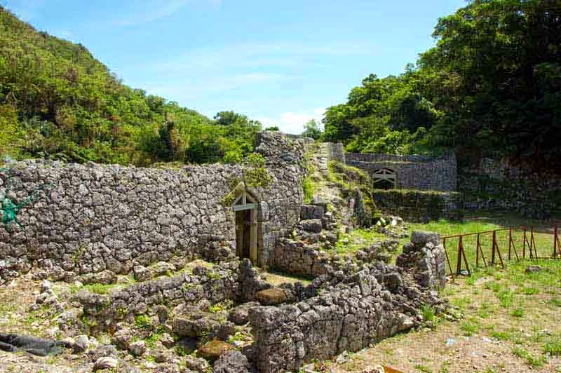 inside view, Chinen Castle ruins, two gates