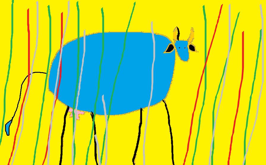 Clarissa, la vaca azul