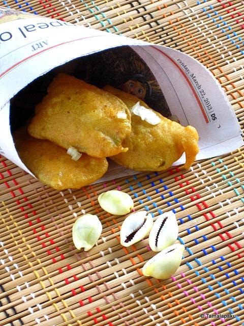 Aratikaya Bajji ~ Plantain Fritters