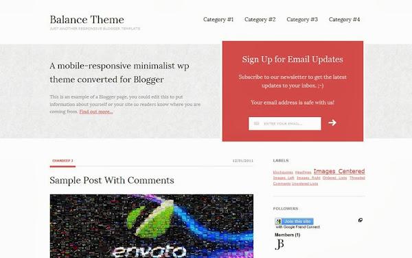 Balance – Free Responsive Blogger Theme