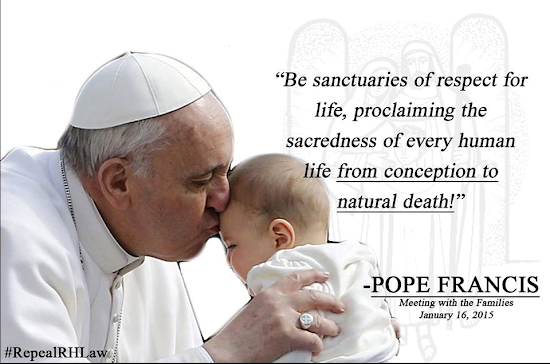 Pope Francis on abortion and euthanasia