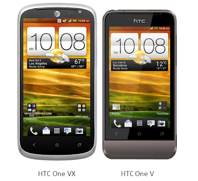 compare htc one vx with htc one v
