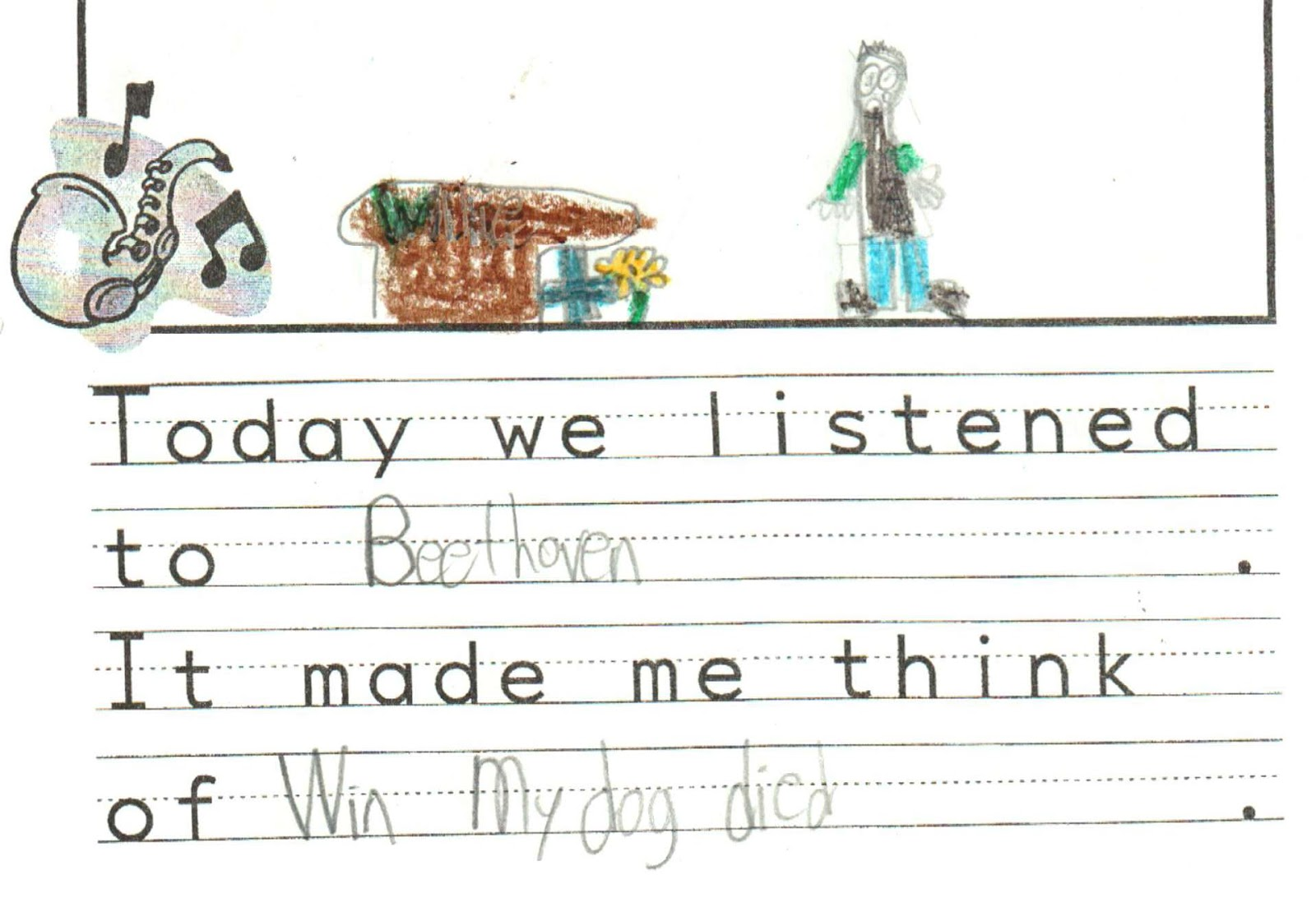 Mrs Kings Music Class Listening to Beethoven – Beethoven Worksheet