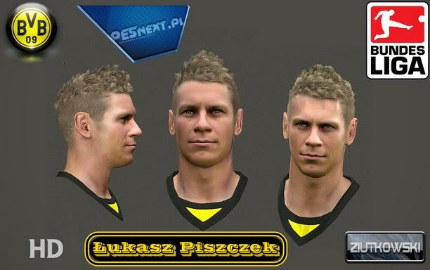 PES 2014 Lukasz Piszczek Face by Ziutkowski