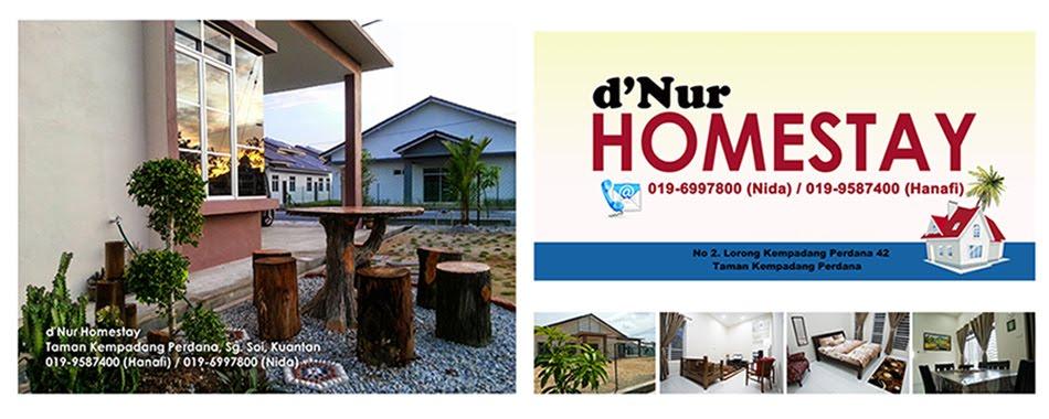 Kuantan Homestay (d'Nur Homestay Kuantan) RM160, 4 bilik, Semi-D Corner Lot