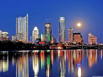 Austin City Skyline Beautiful Lady Bird Lake Texas United States Hd Desktop Wallpaper