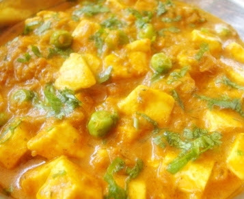Matar paneer recipe,  Recipe of Green Peas and Cottage Cheese gravy