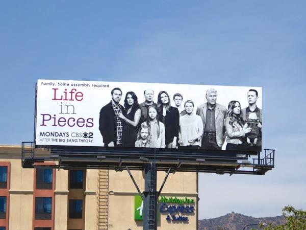 Life in Pieces CBS sitcom billboard