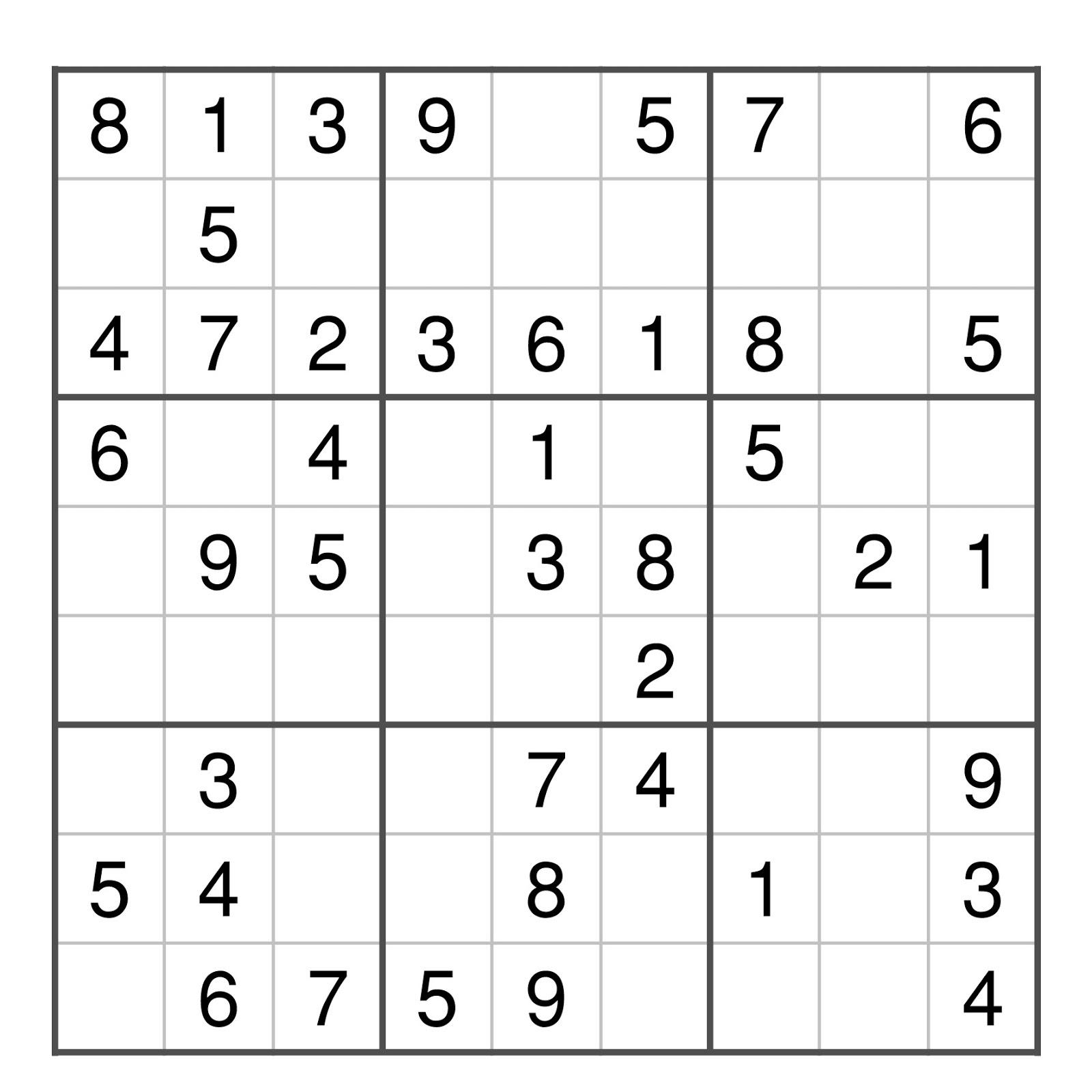 Grille de sudoku facile - Grille de sudoku diabolique ...