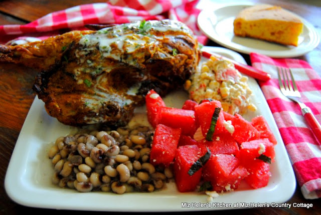 Grilled Chicken with Alabama White Sauce at Miz Helen's Country Cottage