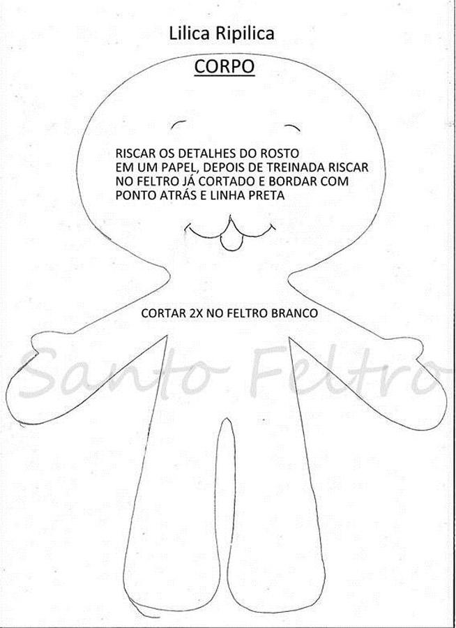Las chorradikas de Laury: Patron muñeca de trapo fácil para imprimir