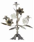 Kyrkoljusstake i silver