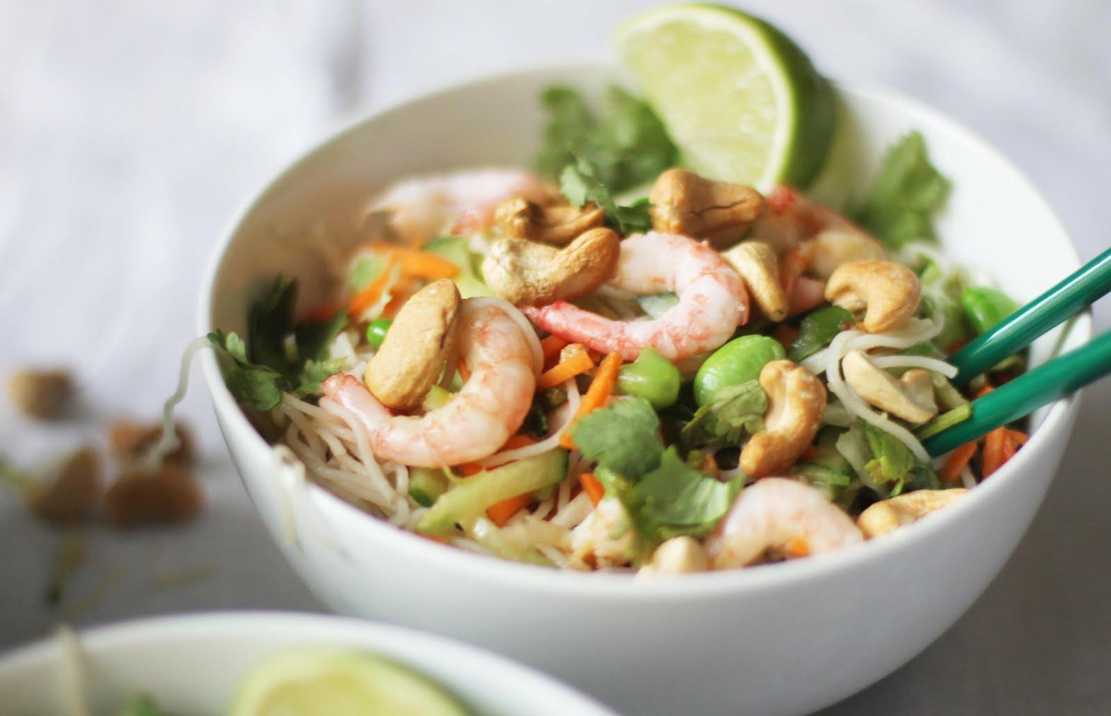risnudlar vegetariskt recept