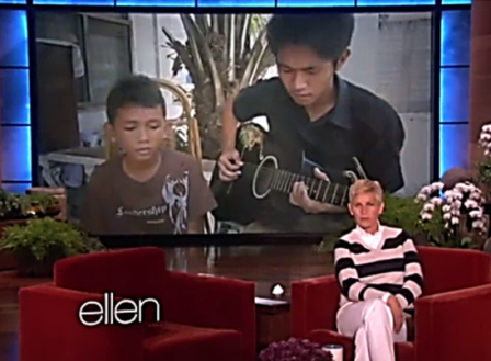 Ellen DeGeneres Invites Aldrich Lloyd Talonding to Perform in Her Show