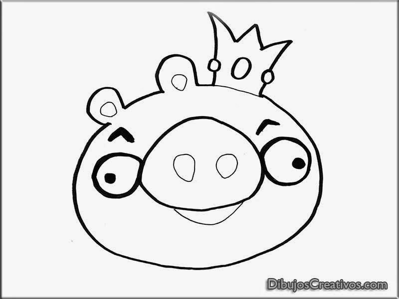 Dibujos para pintar de Rey Cerdo Angry Birds - Imágenes ...
