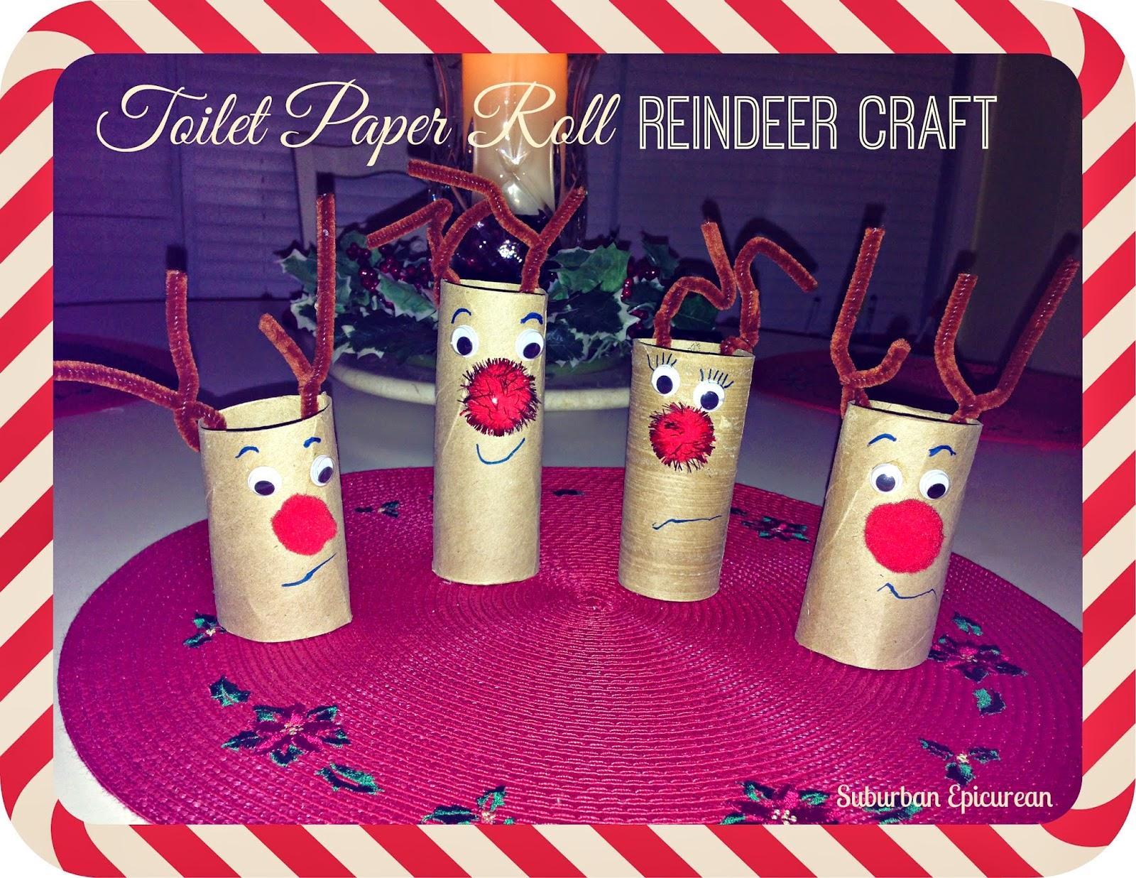 Suburban epicurean toilet paper roll reindeer craft