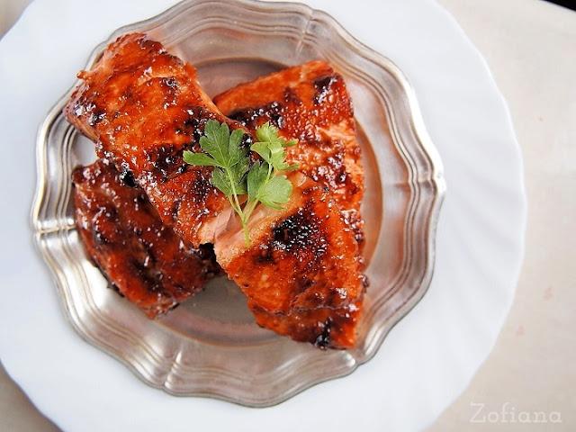 ginger honey soy glazed salmon