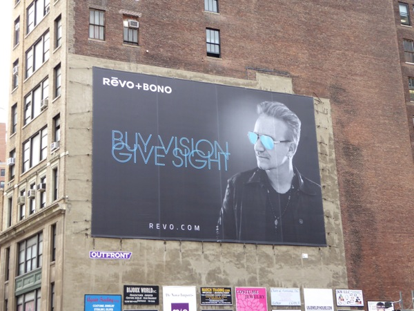 Revo Bono Buy vision Give sight eyewear billboard