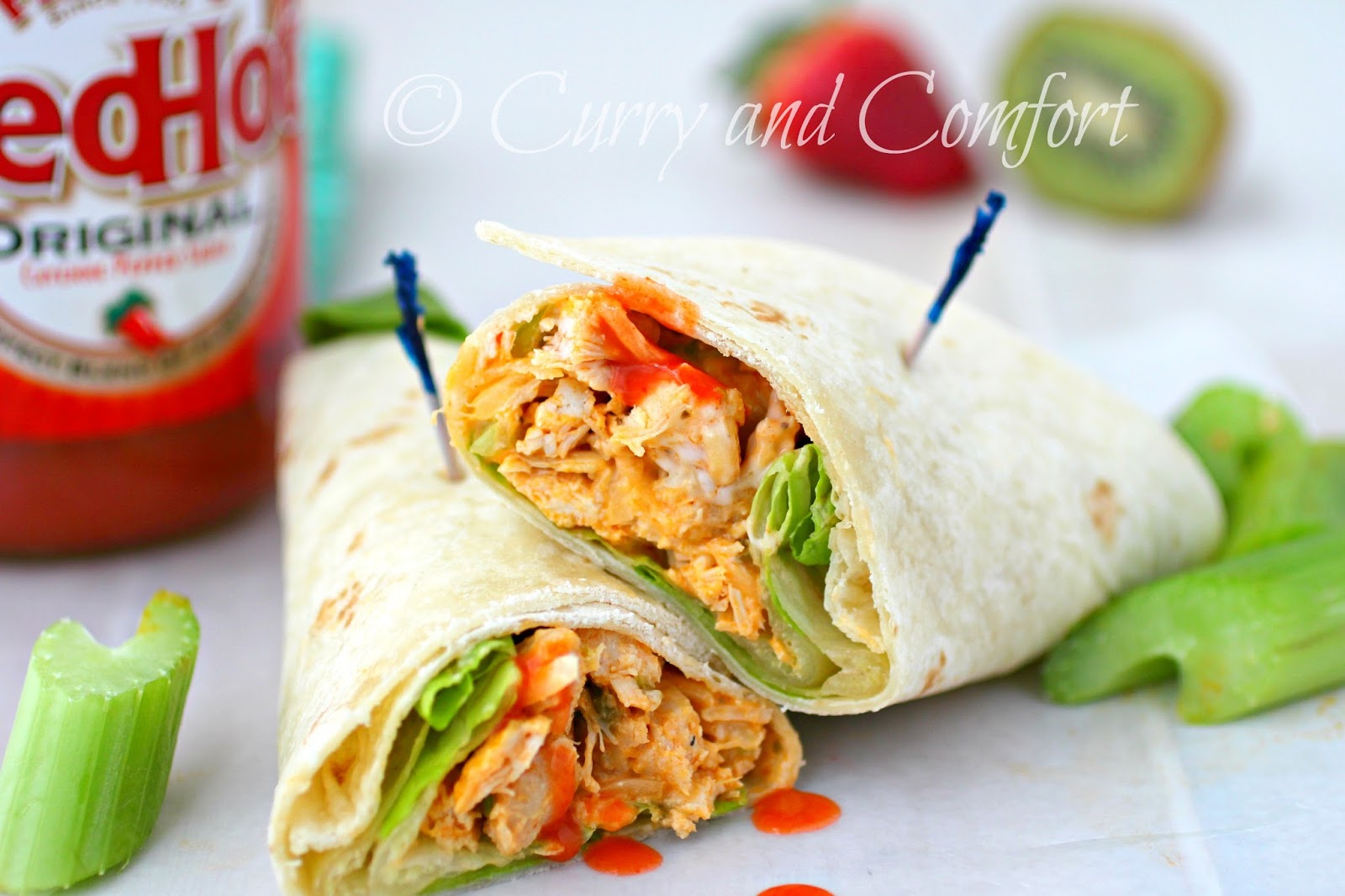 Kitchen Simmer: Buffalo Chicken Wraps