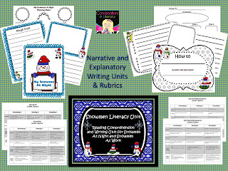 writing unit and rubrics