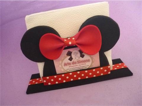 Servilletero de Minnie. Tutorial con moldes. | Ideas y material ...