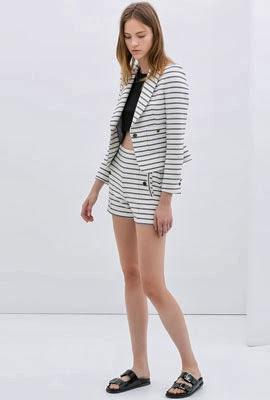 chaqueta mujer de raya para primavera 2014 Zara