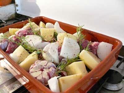 lamb and garlic asado