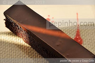 Pastel de Coca Cola y cacao
