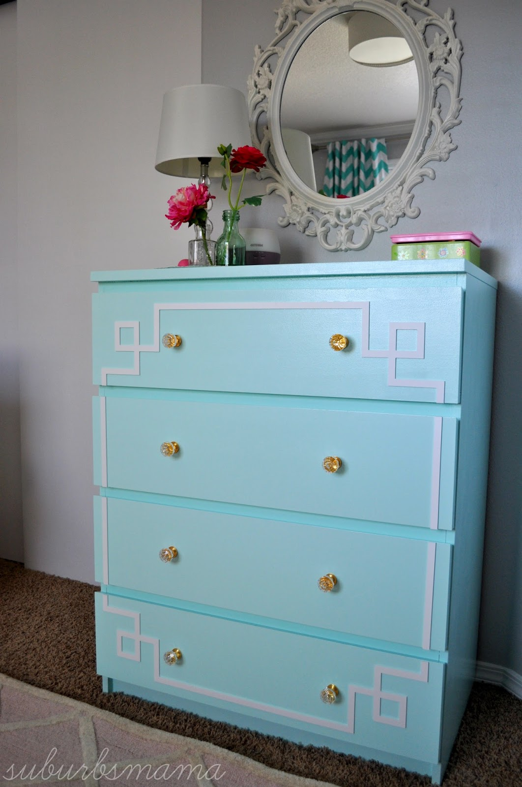 Suburbs mama ikea malm dresser hack before and after for Malm hack