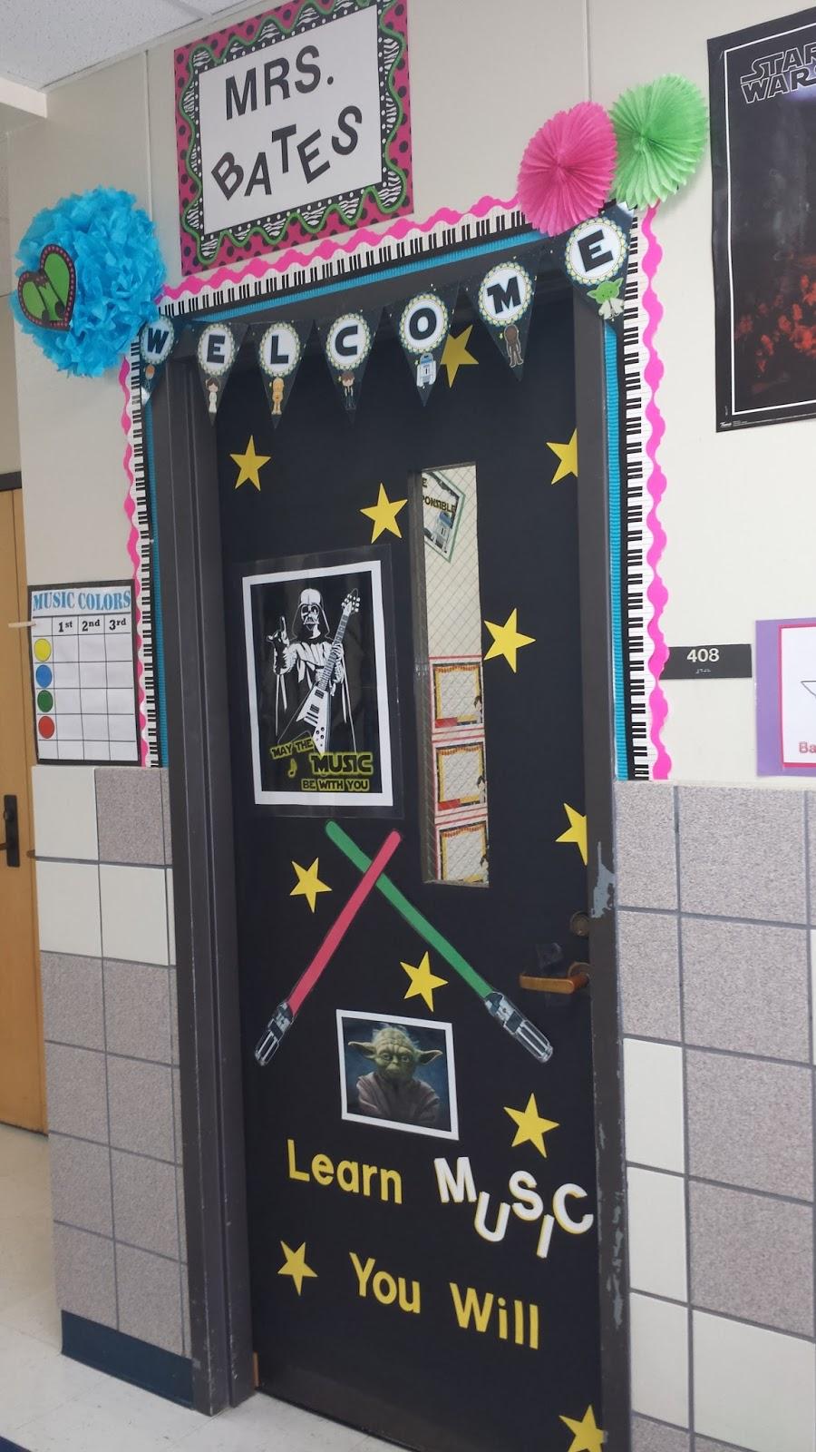 Music Classroom Door Decoration Ideas ~ The bates clef my classroom